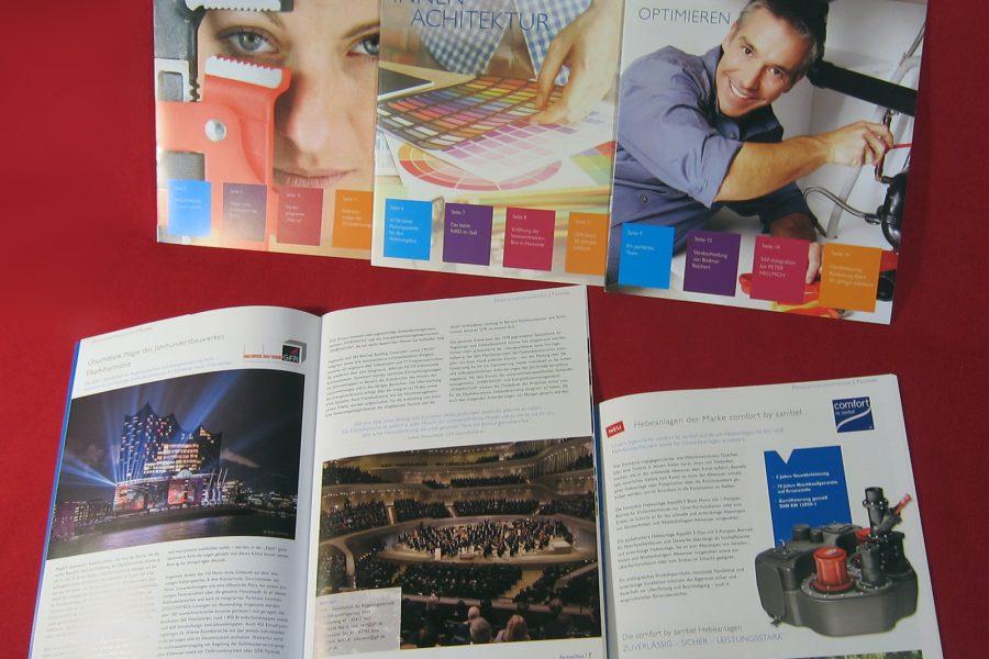 Reihengestaltung Zeitschriften, Magazin