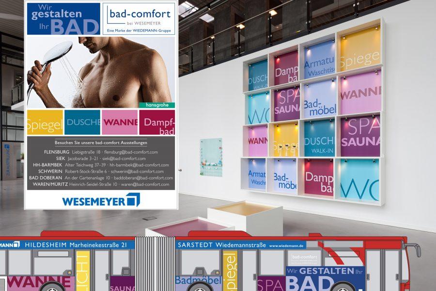 Corporate Design, Verkehrsmittelwerbung, Autobeschriftungen, Anzeigen, Fassadengestaltung, City-Light-Poster, Mega-Light Plakate, Pylone, Kampagne