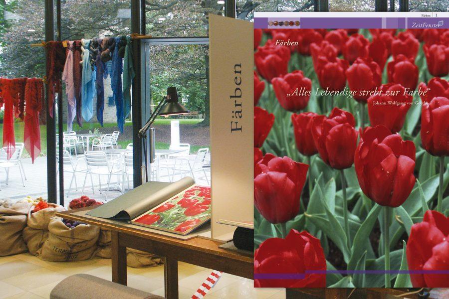 Ausstellungskatalog, Plakate, Flyer, Farbberatung, Typographische Gestaltung in Raum